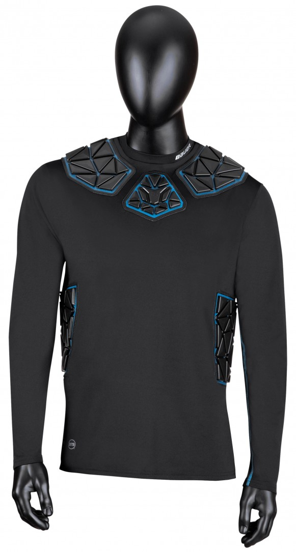 NG ELITE PADDED GOALIE LS BL TOP SR