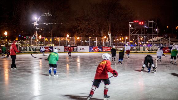 Хоккейная школа Bauer в Парке Горького